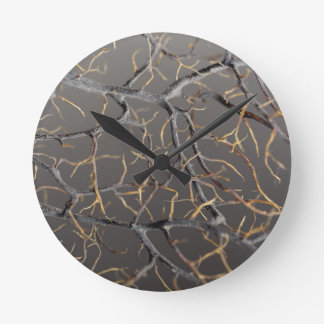 Gorgonian coral round clock