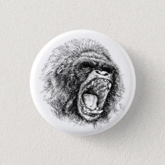 Gorilla 3 Cm Round Badge