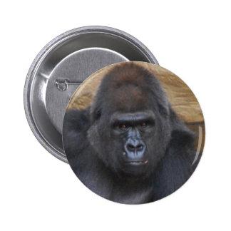 gorilla 6 cm round badge