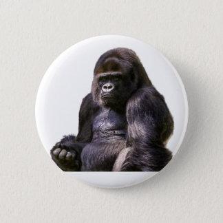 Gorilla Ape Monkey 6 Cm Round Badge