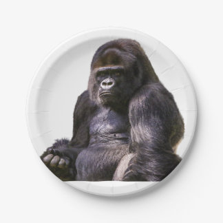 Gorilla Ape Monkey 7 Inch Paper Plate