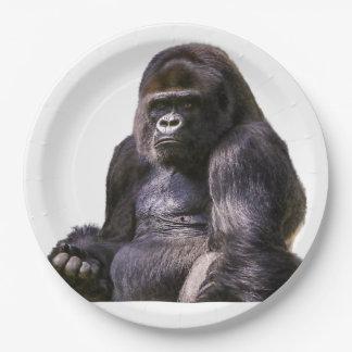 Gorilla Ape Monkey 9 Inch Paper Plate