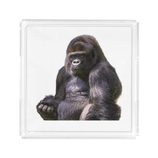Gorilla Ape Monkey Acrylic Tray