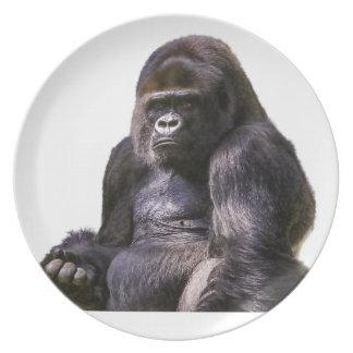 Gorilla Ape Monkey Dinner Plate