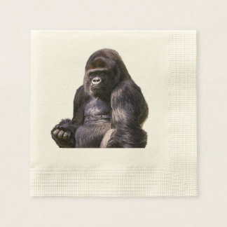 Gorilla Ape Monkey Disposable Serviettes