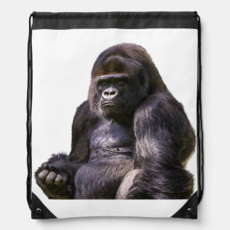 Gorilla Ape Monkey Drawstring Bag