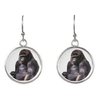 Gorilla Ape Monkey Earrings