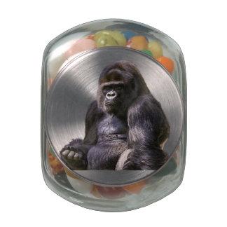 Gorilla Ape Monkey Jelly Belly Candy Jars