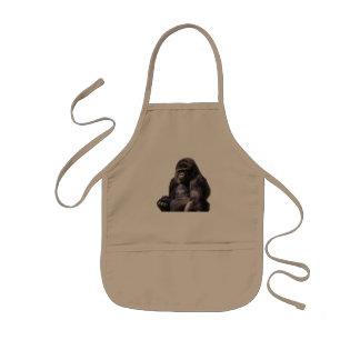 Gorilla Ape Monkey Kids Apron