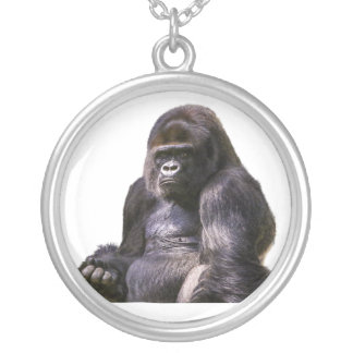 Gorilla Ape Monkey Silver Plated Necklace
