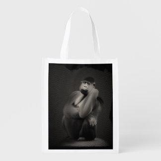 Gorilla Art Grocery Bags