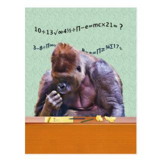 Gorilla at Desk Postcard
