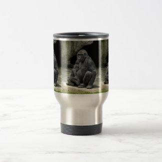 Gorilla baby & mom Hugging Travel Mug