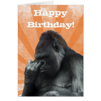 Gorilla Birthday Card