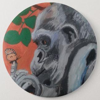 Gorilla & butterfly button