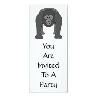 Gorilla Cartoon 10 Cm X 24 Cm Invitation Card