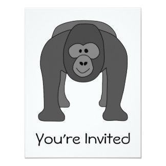 Gorilla Cartoon 11 Cm X 14 Cm Invitation Card