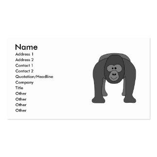 Gorilla Cartoon Business Card Templates
