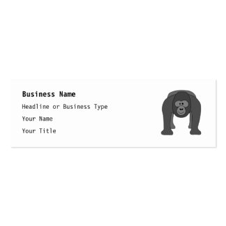 Gorilla Cartoon Pack Of Skinny Business Cards