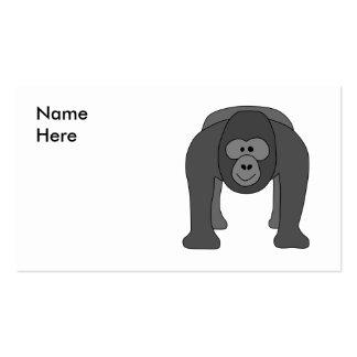 Gorilla Cartoon Business Cards