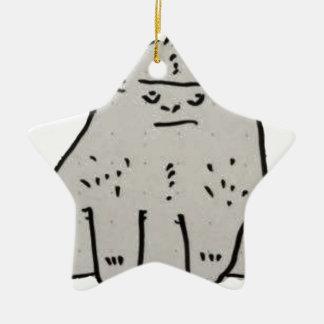 Gorilla Cartoon Ceramic Star Decoration
