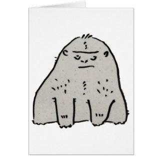 Gorilla Cartoon Greeting Card