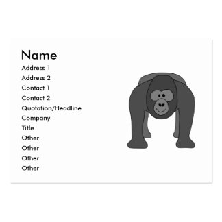 Gorilla Cartoon Pack Of Chubby Business Cards