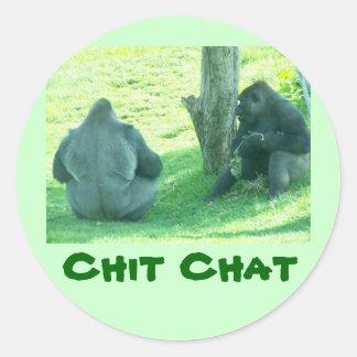 gorilla chit chat,  sticker