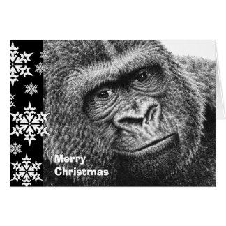 Gorilla Christmas Card