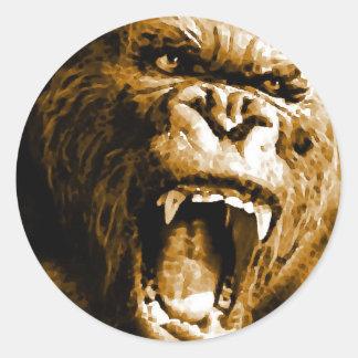 Gorilla Classic Round Sticker
