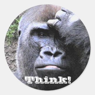 Gorilla_ Classic Round Sticker