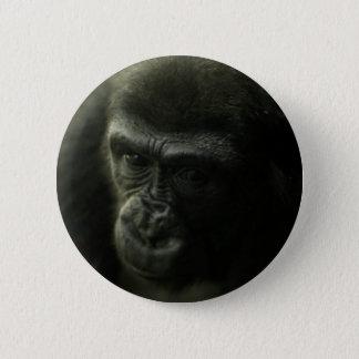 Gorilla Closeup.png 6 Cm Round Badge
