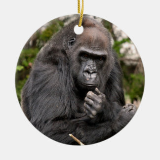 Gorilla F 8672 Ceramic Ornament