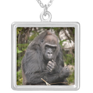 Gorilla F 8672 Silver Plated Necklace