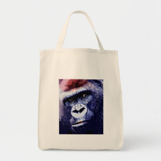 Gorilla Face Grocery Tote Bag