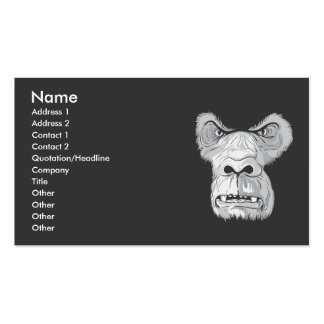 gorilla face vector Double-Sided standard business cards (Pack of 100)