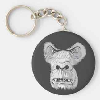 gorilla face vector key chain