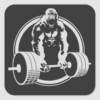 Gorilla Fitness Beast Mode Lifting Crossfit Square Sticker