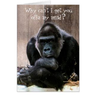 Gorilla Girl of My Dreams Fun Love Card