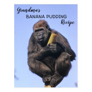 Gorilla Grandma's Banana Pudding Recipe Kids Cook Postcard
