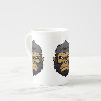 Gorilla Head Cartoon. Bone China Mug