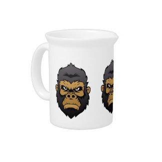 Gorilla Head Cartoon. Drink Pitchers