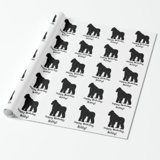 Gorilla iHappy Birthday Name Customizable Wrapping Paper