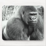Gorilla in Black and White Mouse Pad
