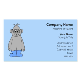 Gorilla in Blue Boots. Business Cards