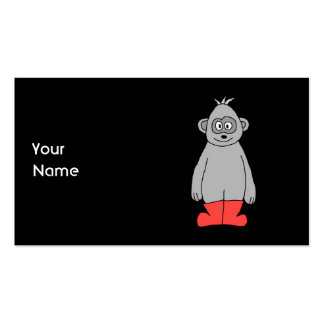 Gorilla in Red Boots. Business Card Templates