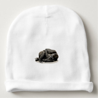 Gorilla jungle parrot baby beanie