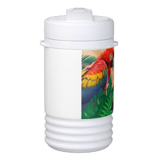 Gorilla jungle parrot drinks cooler