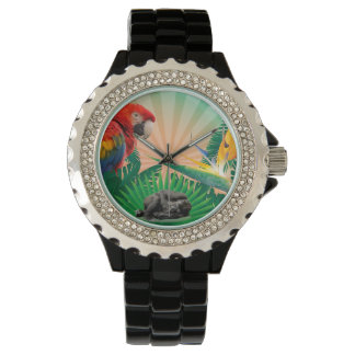 Gorilla jungle parrot watch