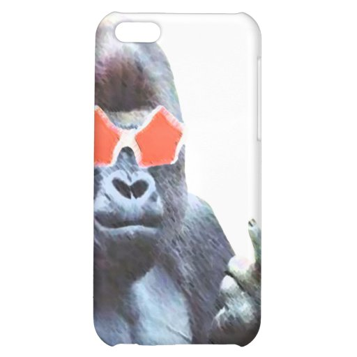 Gorilla middlefinger Street Art Iphone 4 & 4S case iPhone 5C Covers